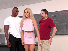 Assh Lee is a stunning blonde in need of a BBC during a cuckold game