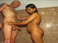 real indian threesome fuck orgy with two cute desi chicks