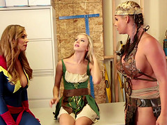 Phoenix Marie and Tanya Tate enjoy a threesome with a hot babe
