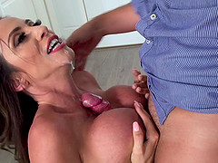 When Ariella Ferrera sweats too much it means she is being fucked hard