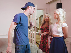 Blonde Lovita pussy fingered then fucked doggystyle
