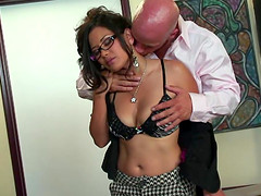 Jessica Bangkok is a honey with glassed fucked by a stallion