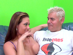 Hot shagging session with stunning brunette MILF Tory Lane