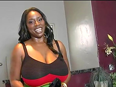 Big Tits Mature Ebony Sucking my cock like a porn actress