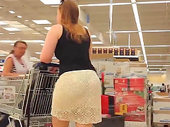 WAOOOW  FANTASTIC ASS IN COCHET DRESS
