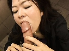 Extremely Horny Asian Babe Sucks Cock In Public
