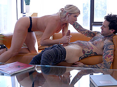 Lucky guy finally gets to bang India Summer while she moans