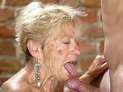 Horny granny Malya wants to fuck roughly with a handsome guy
