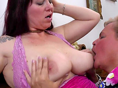 Hot perfect mature lesbians with piercing dreams about group fucking