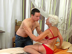 Granny Myra blows the best and enjoys fucking more than anything