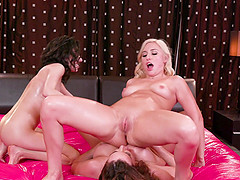 Hot lesbian threesome with Darcie Dolce and her lustful friends