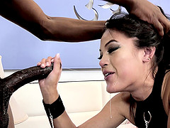 Interracial hardcore one on one with Kendra Spade swallowing