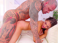 Brunette Ginebra Belluci gets fucked hard from behind