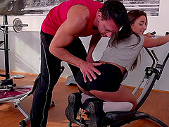 Getting fucked in doggystyle makes gym goer Amira Adara so horny