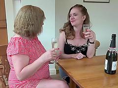 Bondaged lesbion fuckuf orgy