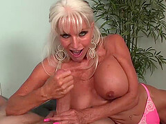 Granny Blowjob CHALLENGE - Sally Tortures His Big Cock