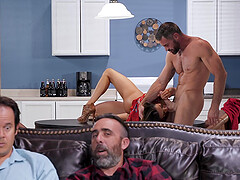 Hungry MILF slut Ariella Ferrera gobbles cock and cum down her throat