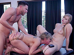 Hardcore bondage FFM threesome with Dolly Leigh and Dee Williams