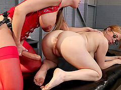 Lesbian anal strap on fuck with Britney Amber and Penny Pax