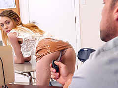 Skinny schoolgirl Alli Addison enjoys bouncing on a hard dick