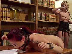 lesbian sex at the library with Maitresse Madeline Marlowe is memorable