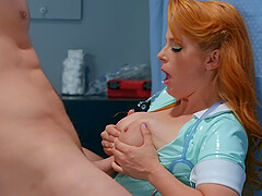 sexy nurse Penny Pax adores sex and a blowjob in the hospital