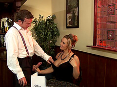 Wild and brave Tanya Tate wants to have hard sex in the restaurant
