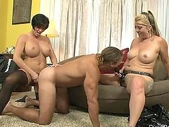 Dude Takes A Serious Pegging From Two Chicks