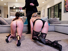 Serena Avery and Sofie Marie enjoy memorable sex experience wit a dude