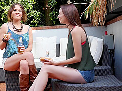 Threesome with Avery Stone and Krissy Lynn is the best part of the day