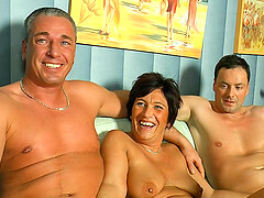 Dreams come true for horny mature after memorable threesome