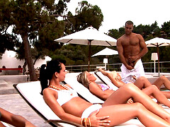 Group fuck by the pool is a paradise for horny Susie Diamond