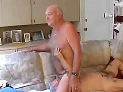 Mature amateur guys lured a newbie into their game
