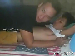 Asian man fondles, licks and fucks femboy.