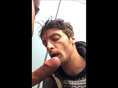Stranger Sucking Me very hard in Public Toilets