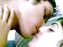 Sexy Indian Teen Couple Kissing