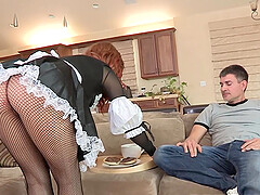 Maid in erotic lingerie can be scary, it is better to fuck her when she wants sex