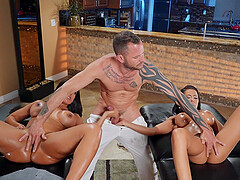 Incredible threesome on the massage table - Luna Star & Madison Ivy