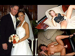 Depraved brides. Pov video before and after they became wives