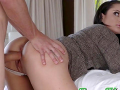 Busty stepmom fucks in morning with stepson