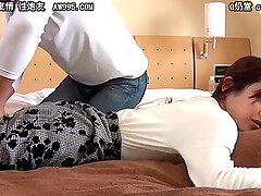 Japanese wife has sex with husband and his friend after massage