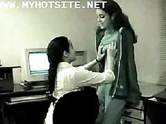 Indian Lesbians Get Naughty In The Office