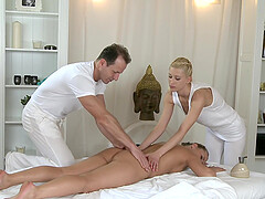 Uma and Zuzana Z team up to pleasure one stiff cum gun. HD