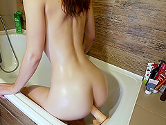 I caught stepsister masturbating in bath and watch