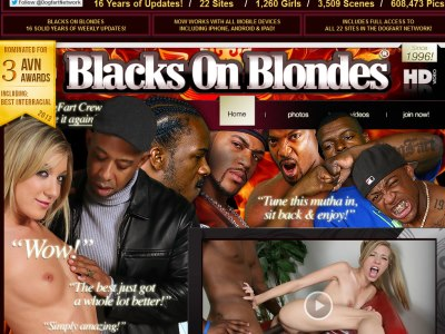 Blacks on blondes tube think
